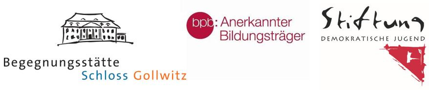 Logos Schloss Gollwitz, BPB, Stiftung Demokratische Jugend